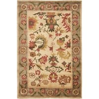Safavieh Hand-knotted Ancient Weave Ivory/ Sage Wool Rug - 6' x 9'