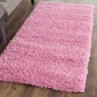 Safavieh California Cozy Plush Pink Shag Rug (2'3 x 5')