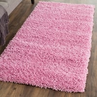 Safavieh California Cozy Plush Pink Shag Rug (2'3 x 5')