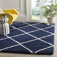 Clay Alder Home Horton Mill Diamond Shag Navy/ Ivory Rug - 5'1 x 7'6