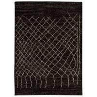 Rug Squared Pueblo Black Abstract Area Rug - 8' x 10'