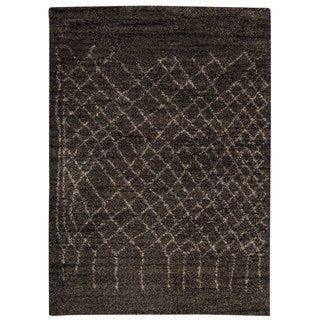 Rug Squared Pueblo Charcoal Abstract Area Rug (5' x 7')