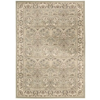 Rug Squared Springfield Light Green Oriental Area Rug (2'2 x 7'6)
