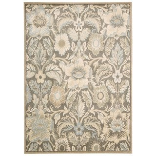Rug Squared Springfield Grey Floral Area Rug (2'2 x 7'6)