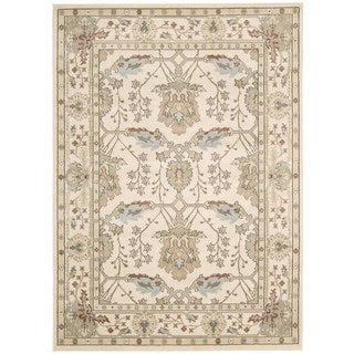 Rug Squared Springfield Ivory Oriental Area Rug (9'3 x 12'9)