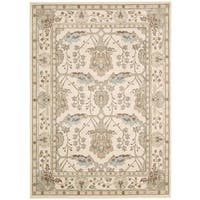 Rug Squared Springfield Ivory Oriental Area Rug - 9'3 x 12'9