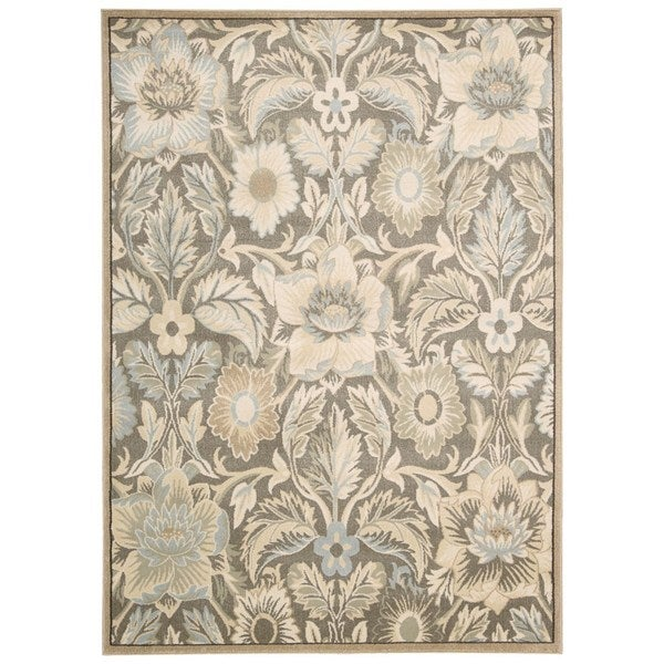 Rug Squared Springfield Grey Floral Area Rug
