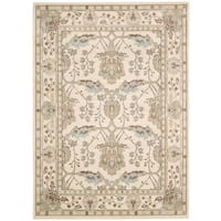 Rug Squared Springfield Ivory Oriental Area Rug - 5'3 x 7'4