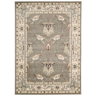 Rug Squared Springfield Oriental Grey Area Rug (5'3 x 7'4)