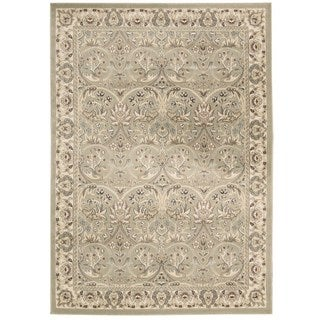 Rug Squared Springfield Light Green Oriental Area Rug (5'3 x 7'4)