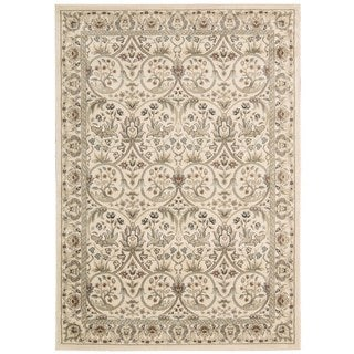 Rug Squared Springfield Ivory Oriental Area Rug (5'3 x 7'4)