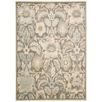 Rug Squared Springfield Grey Floral Area Rug - 5'3 x 7'4