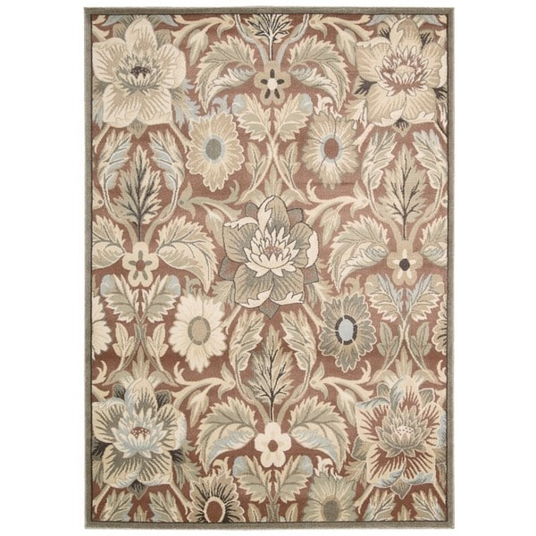 Rug Squared Springfield Brick Floral Area Rug (5'3 x 7'4) - 5'3 x 7'4
