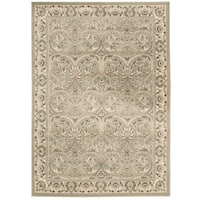 Rug Squared Springfield Light Green Oriental Area Rug (3'9 x 5'9) - 3'9 x 5'9