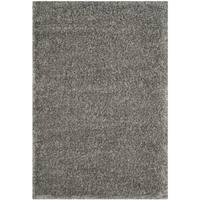 "Safavieh Charlotte Shag Grey Plush Polyester Rug - 5'1"" x 7'6"""