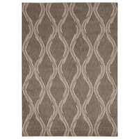 Rug Squared Wellesley Taupe Graphic Area Rug