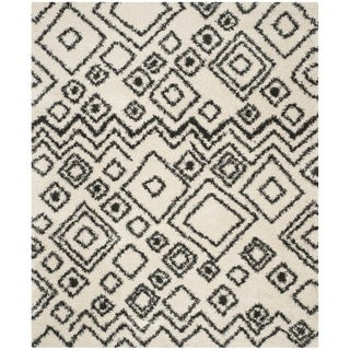 Safavieh Belize Shag Ivory/ Charcoal Moroccan Area Rug (5'1 x 7'6)