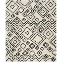 Safavieh Belize Shag Ivory/ Charcoal Moroccan Area Rug - 5'1 x 7'6