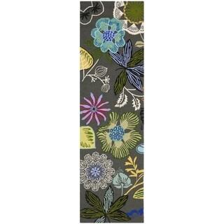 Safavieh Hand-Hooked Four Seasons Grey / Multicolored Rug (2'3 x 10')
