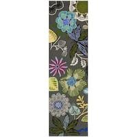 "Safavieh Hand-Hooked Four Seasons Grey / Multicolored Rug - 2'3"" x 10'"