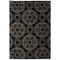Rug Squared Wellesley Black Graphic Area Rug (9'3 x 12'9) - 9'3 x 12'9