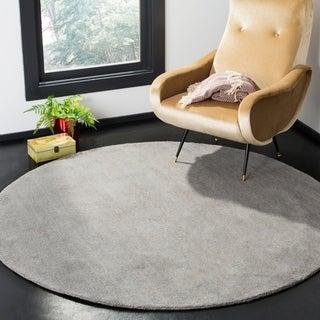 Safavieh Handmade Himalaya Solid Grey Wool Rug (8' Round)