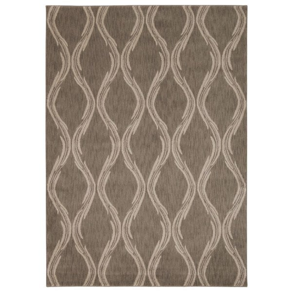 Rug Squared Wellesley Taupe Graphic Area Rug (7'9 x 10'10)