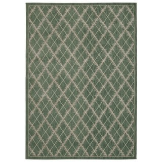Rug Squared Wellesley Light Green Graphic Area Rug (7'9 x 10'10)