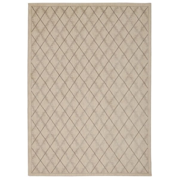 Rug Squared Wellesley Ivory Graphic Area Rug - 7'9 x 10'10
