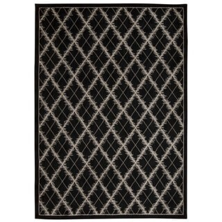 Rug Squared Wellesley Black Graphic Area Rug (7'9 x 10'10)
