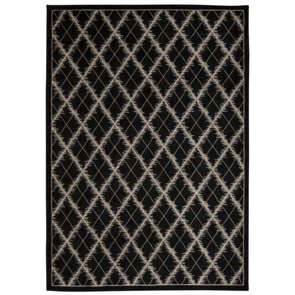Rug Squared Wellesley Black Graphic Area Rug (7'9 x 10'10)