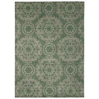 Rug Squared Wellesley Light Green Graphic Area Rug (5'3 x 7'5)