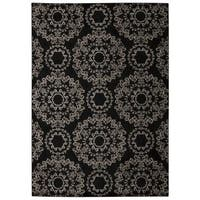 Rug Squared Wellesley Black Graphic Area Rug - 3'9 x 5'9