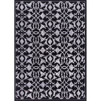 Rug Squared Riverside Black Abstract Area Rug - 7'10 x 10'6