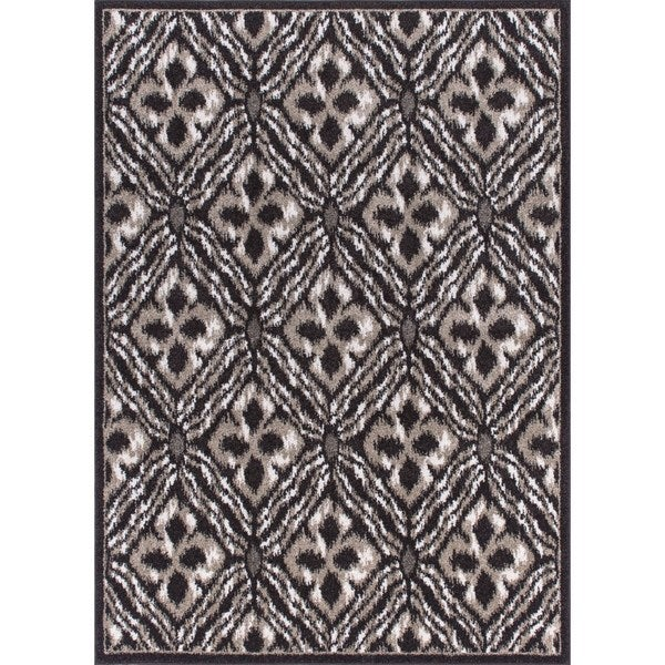 """Rug Squared Riverside Espresso Abstract Area Rug (7'10 x 10'6) - 7'10"""" x 10'6"""""""