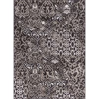 Rug Squared Riverside Espresso Abstract Area Rug (5'3 x 7'3)