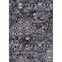 Rug Squared Riverside Black Abstract Area Rug - 3'11 x 5'10