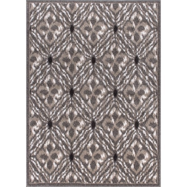 "Rug Squared Riverside Grey Abstract Area Rug (3'11 x 5'10) - 3'11"" x 5""10"""