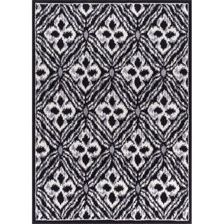Rug Squared Riverside Black Abstract Area Rug (3'11 x 5'10)