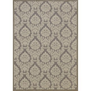 Rug Squared Montrose Silver/ Ivory Abstract Area Rug (2'6 x 4')