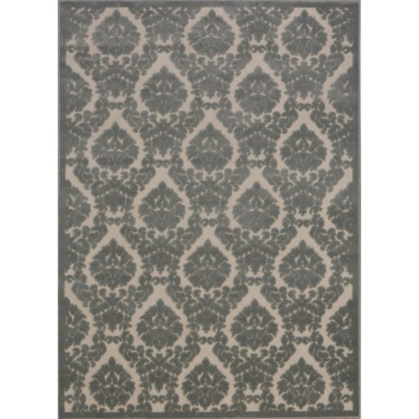 """Rug Squared Montrose Ivory Green Abstract Area Rug (2'6 x 4') - 2'6"""" x 4'"""