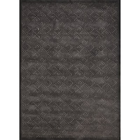 Rug Squared Montrose Silver Grey Abstract Area Rug (2'6 x 4')
