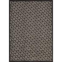Rug Squared Montrose Ivory/ Charcoal Geometric Area Rug (2'6 x 4') - 2'6 x 4'