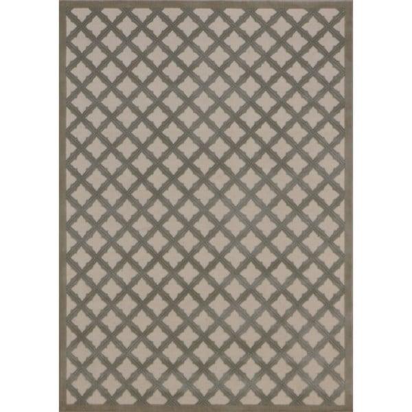 Rug Squared Montrose Ivory Green Geometric Area Rug (2'6 x 4') - 2'6 x 4'