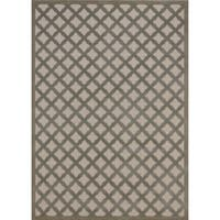Rug Squared Montrose Ivory Green Geometric Area Rug - 2'6 x 4'
