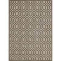 Rug Squared Montrose Ivory/ Light Grey Geometric Area Rug (2'6 x 4')