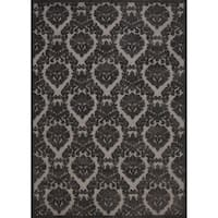 Rug Squared Montrose Silver Grey Abstract Area Rug - 7'9 x 10'10