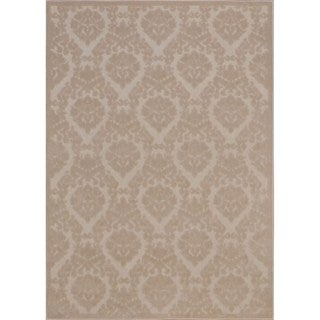 Rug Squared Montrose Ivory/ Sand Abstract Area Rug (7'9 x 10'10)