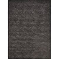 Rug Squared Montrose Silver Grey Abstract Area Rug (7'9 x 10'10)