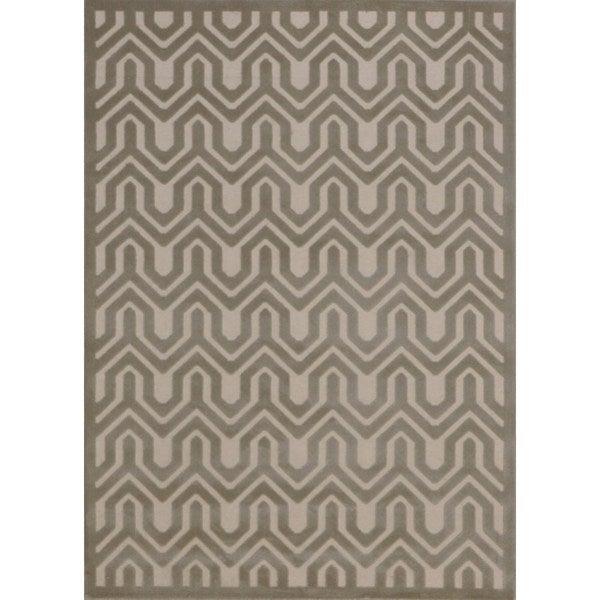 Rug Squared Montrose Ivory/ Light Grey Geometric Area Rug - 7'9 x 10'10